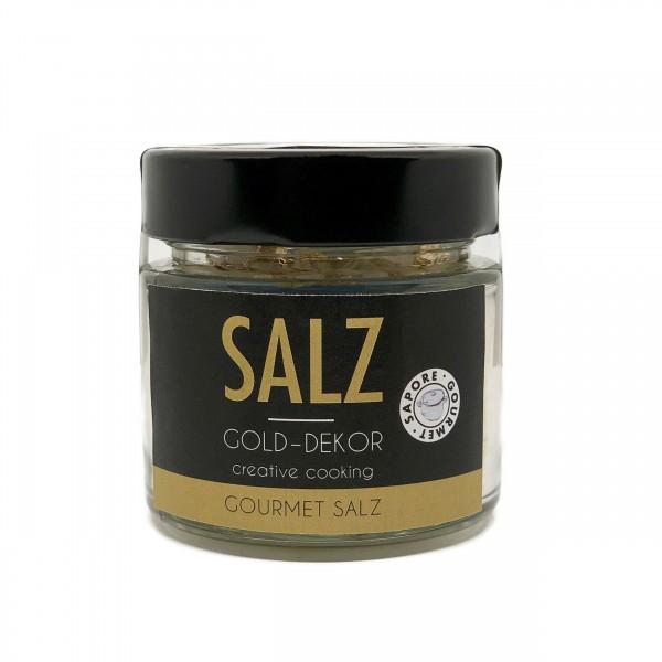 Gold-Dekor feines Luxus Salz
